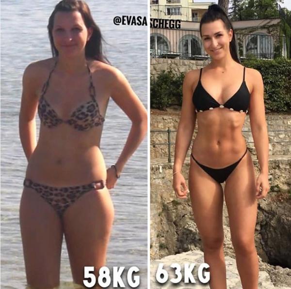 5 femelă cu pierdere de grăsime corporală